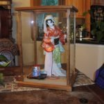 Wood and Glass Display Case for Dolls – Aged Cherry – Also available in Walnut, Mahogany, Oak, and Maple $249.00