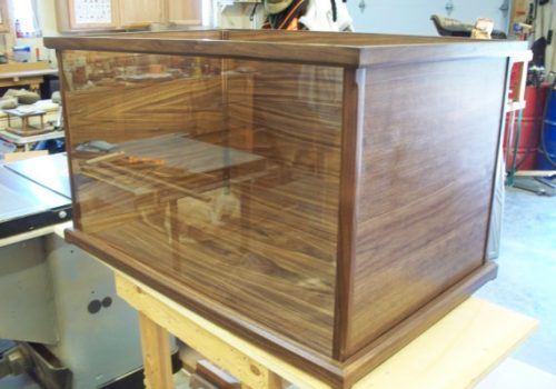 Dark walnut display box wood