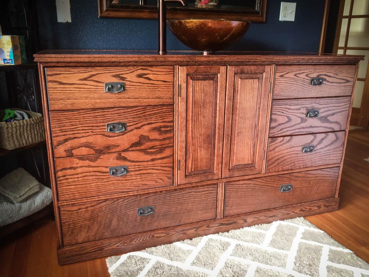 Handmade Vanity & Dresser Combo