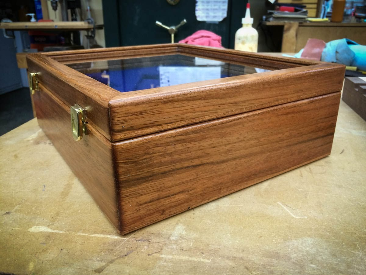 Handmade Rifle / Pistol Display Case Made From Solid Brazilian Cherry