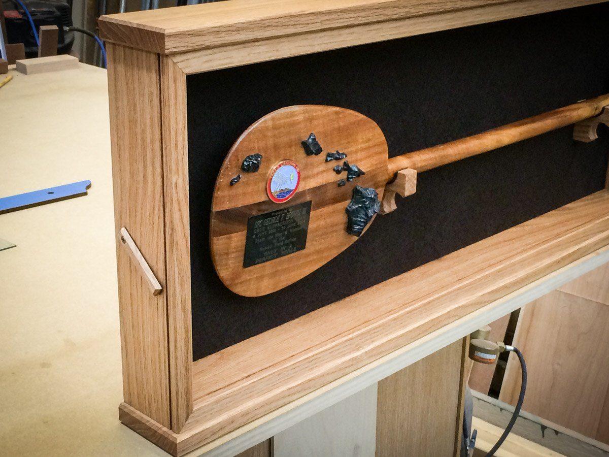 Handmade Red Oak Premium Display Case
