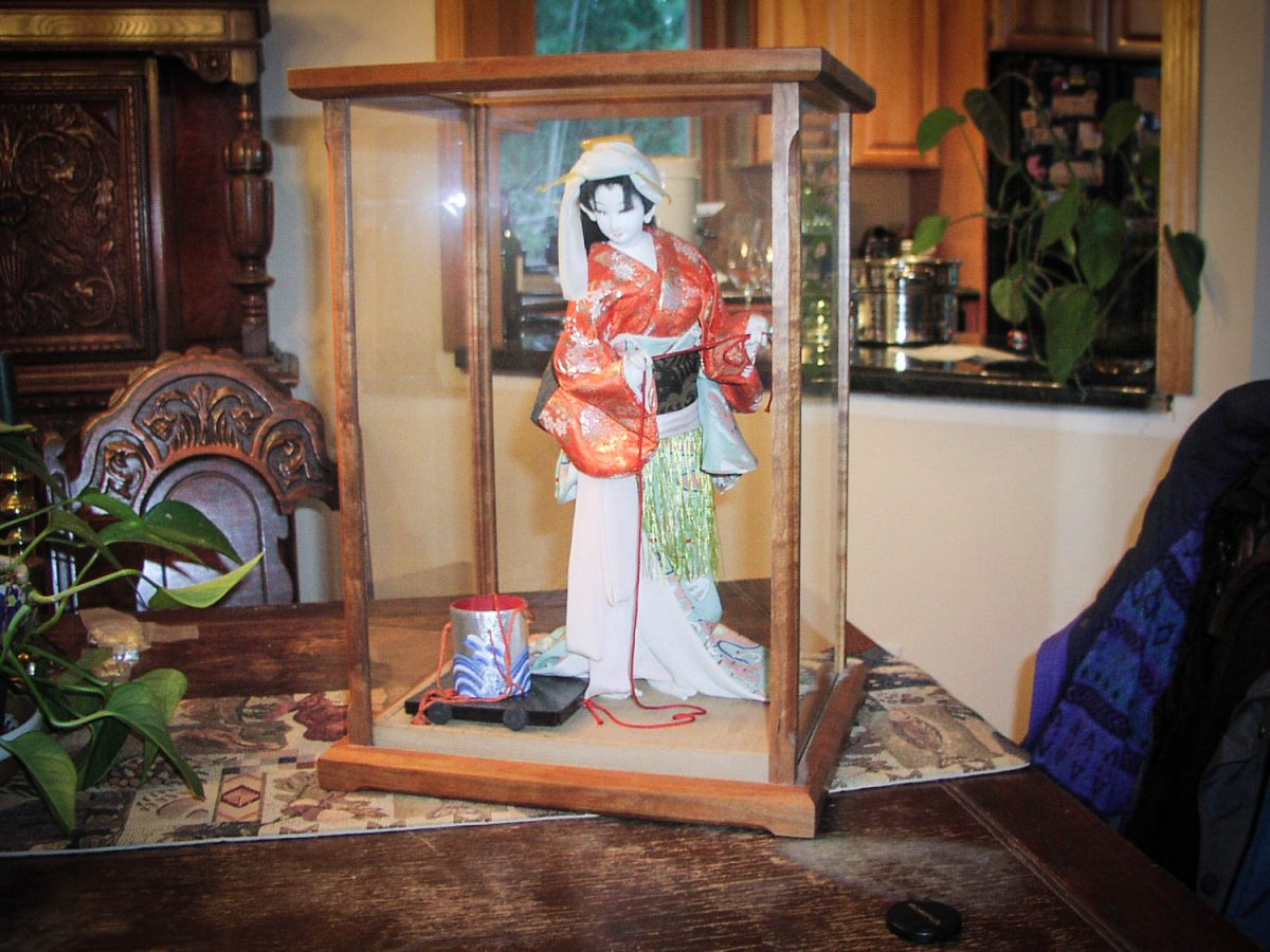 Handmade Cherry Wood Display Case For Collectibles