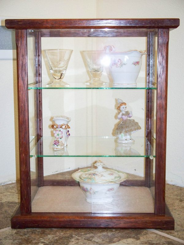 Handmade Asian Merbau Wood Display Case