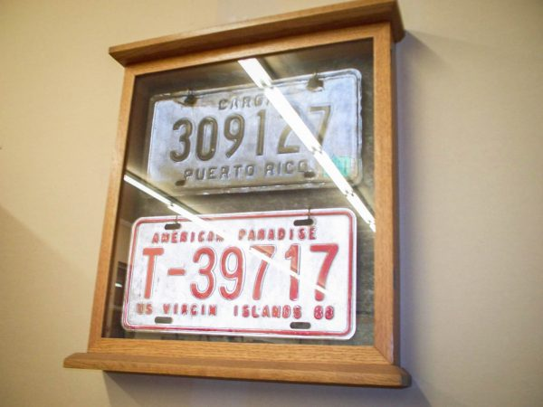 Handmade Deluxe Display Case For Collectibles Like License Plates