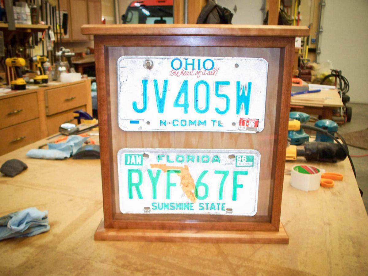 Handmade Deluxe License Plate Display Case