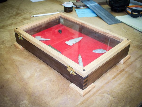 Handmade Display Case With Red Oak And Walnut