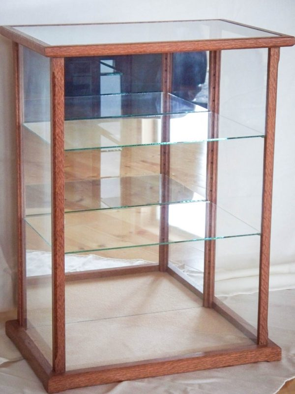 Handmade Glass Display Case Made From Lace Wood