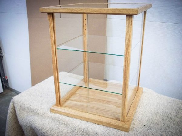 Handmade Natural Red Oak Display Case