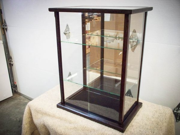 Handmade Glass Display Case Made From Peruvian Walnut