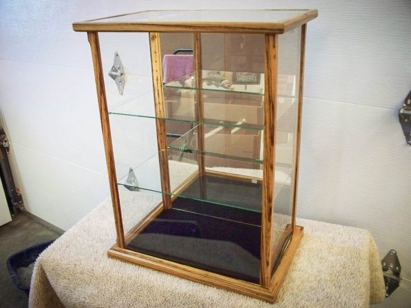 Handmade Display Case Made From Solid Zebra Wood For Collectibles