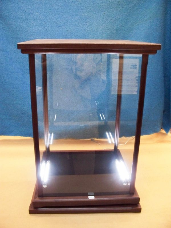 Handmade Peruvian Walnut Display Case With Custom Lighting