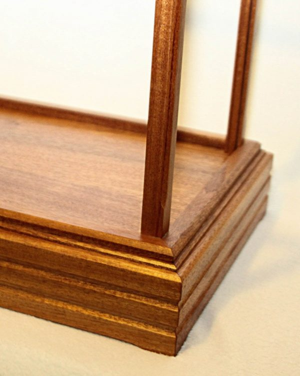Handmade Mahogany Wood And Glass Display Case With Premium Raised Case Base