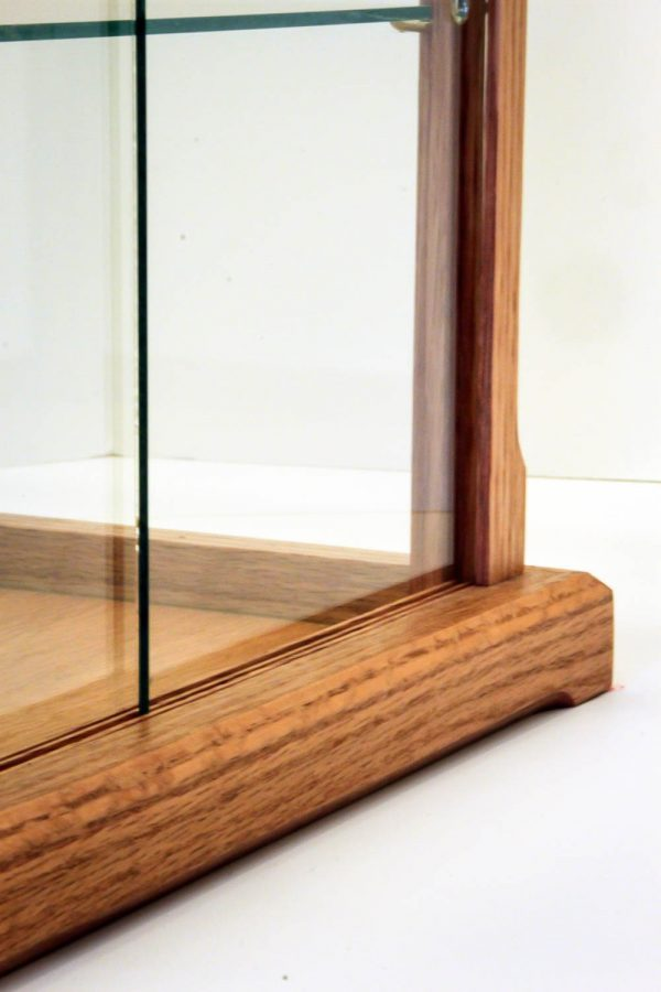 Handmade Oak Display Case With Glass For Collectibles