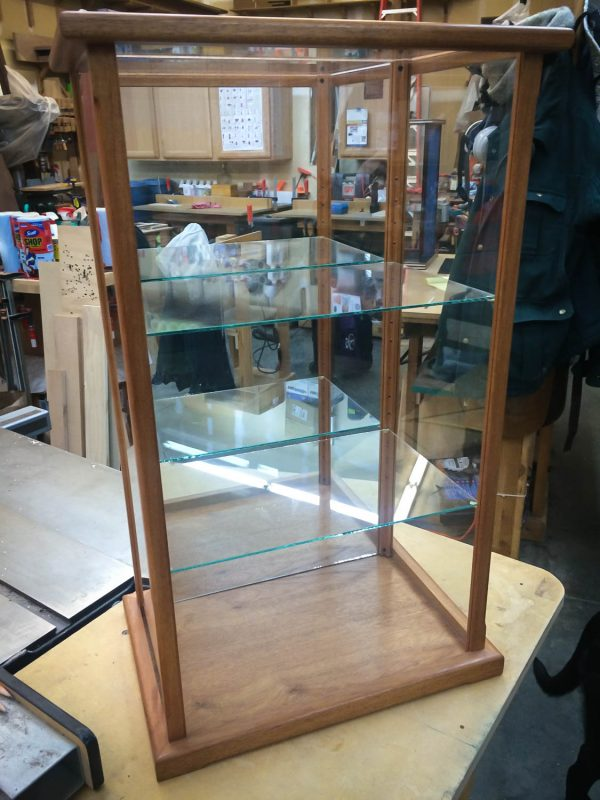 Handmade Convertable Mahogany Display Case