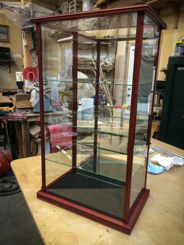 Handmade Display Case For Collectibles Made With Exotic Blood Wood