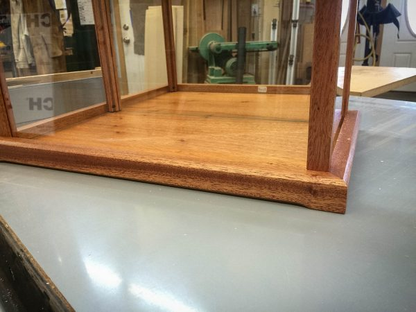 Handmade Mahogany Display Case For Various Collectibles