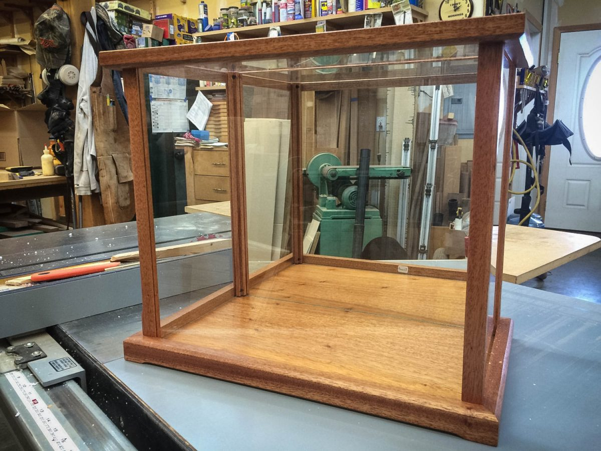 Handmade Mahogany Display Case For Various Collectibles