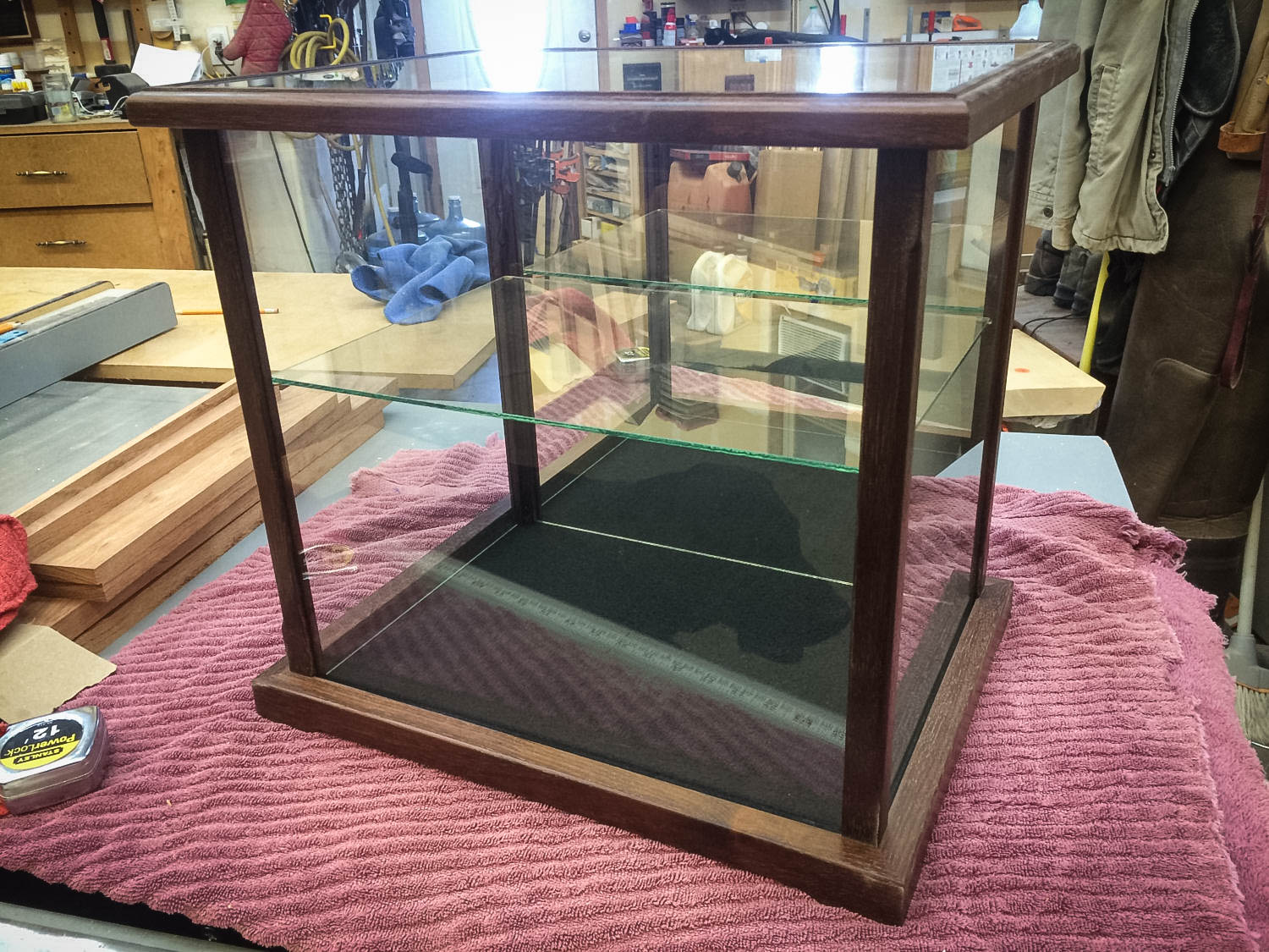 Handmade Display Case With Exotic Wood