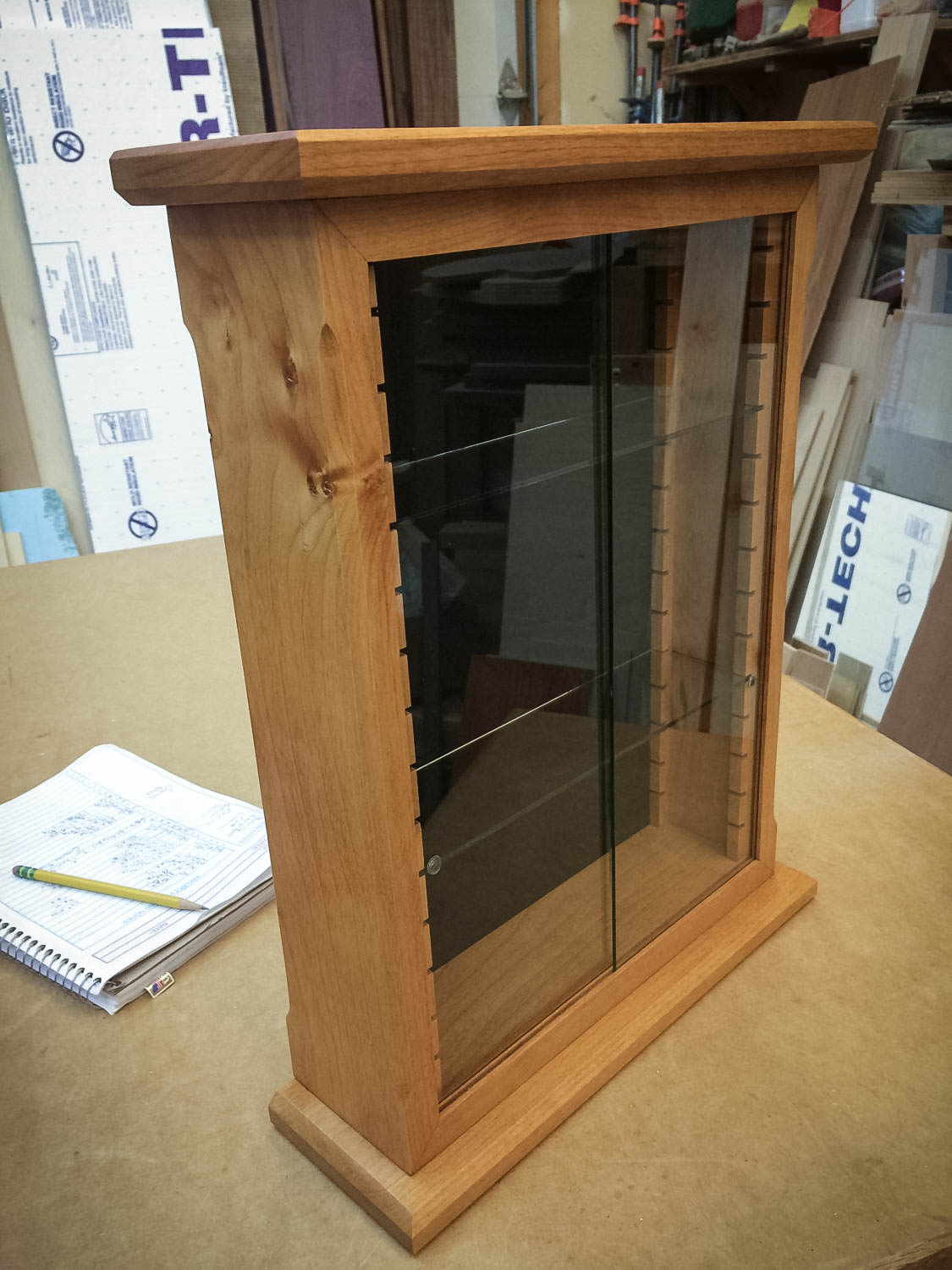 Handmade Deluxe Knotty Alder Display Case