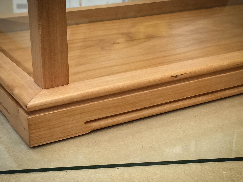 Handmade Cherry Wood & Glass Display Case
