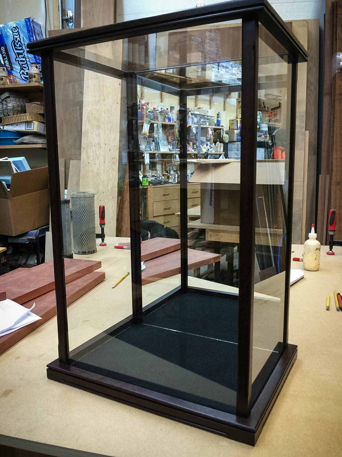 Handmade Glass Display Case For Statues, Dolls, Hierlooms, Models, Figurines