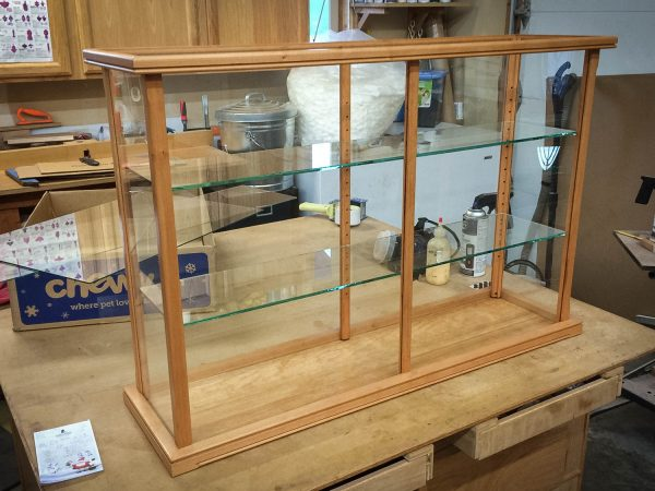 Handmade Wood And Glass Display Case for Models, Crystal, Figurines