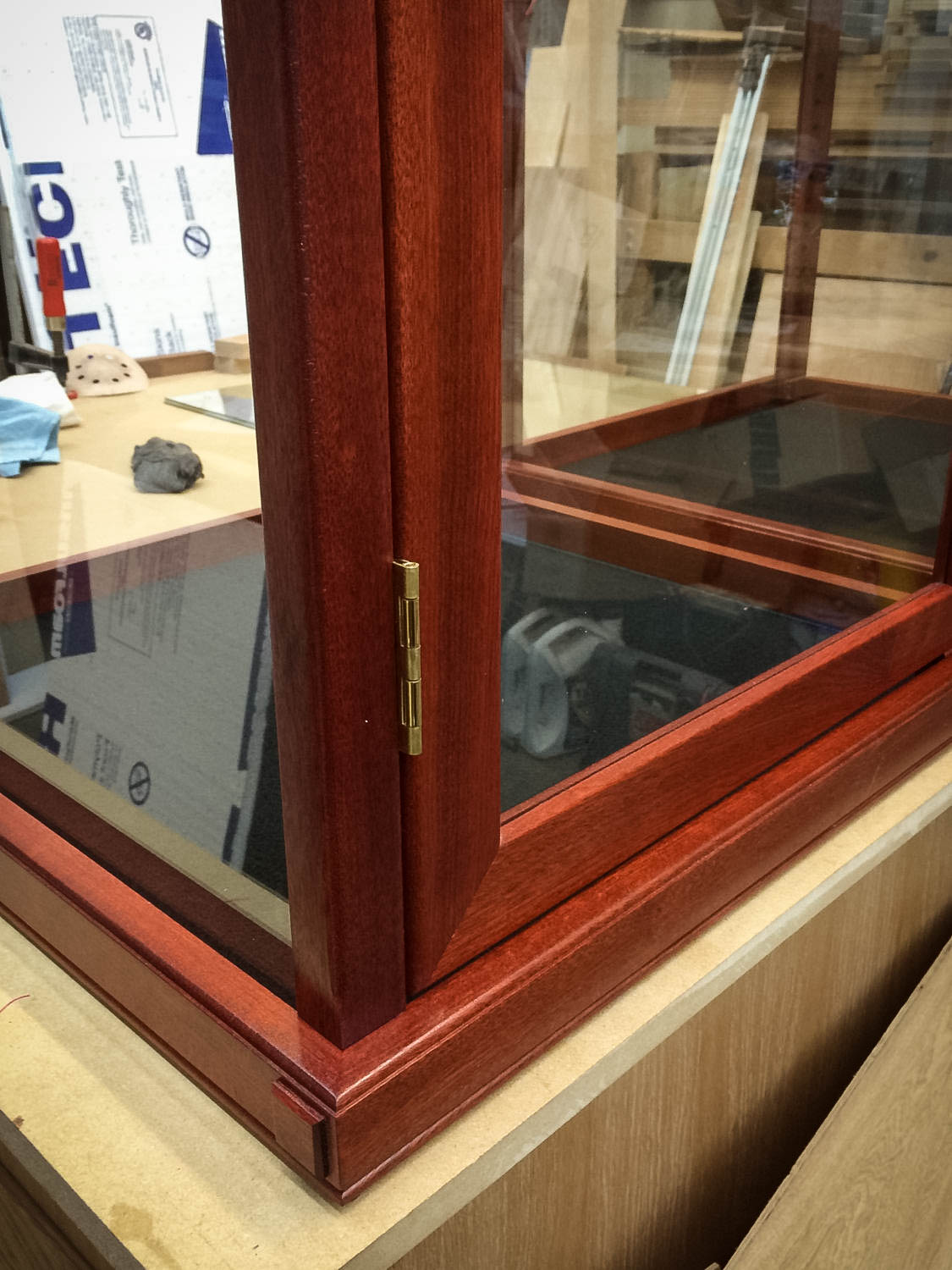 Handmade Matching Set of Two Display Cases For Collectibles