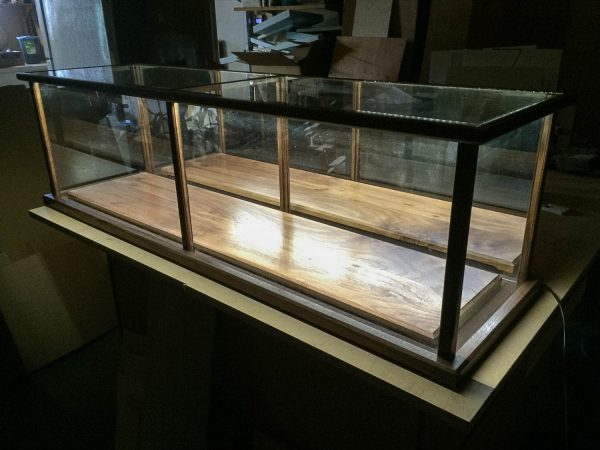Handmade Display Case With LED Lighting Package For Models, Swords, Rifles