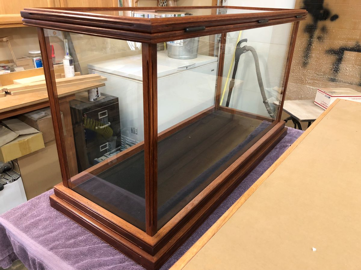 Asian Merbau Wood Display Case for Ship