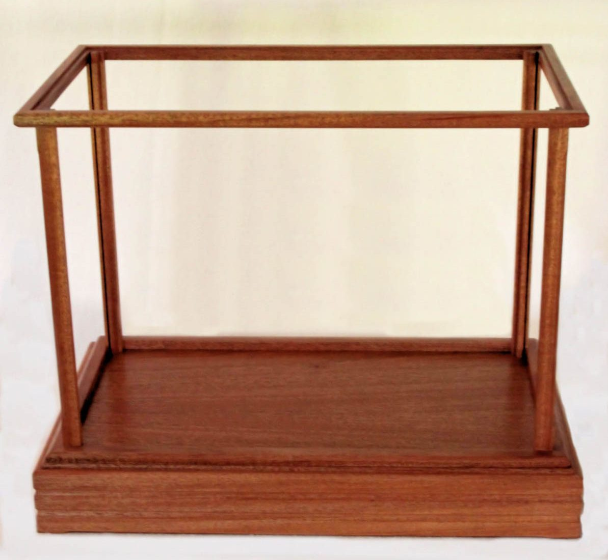 Mahogany display wood and glass box