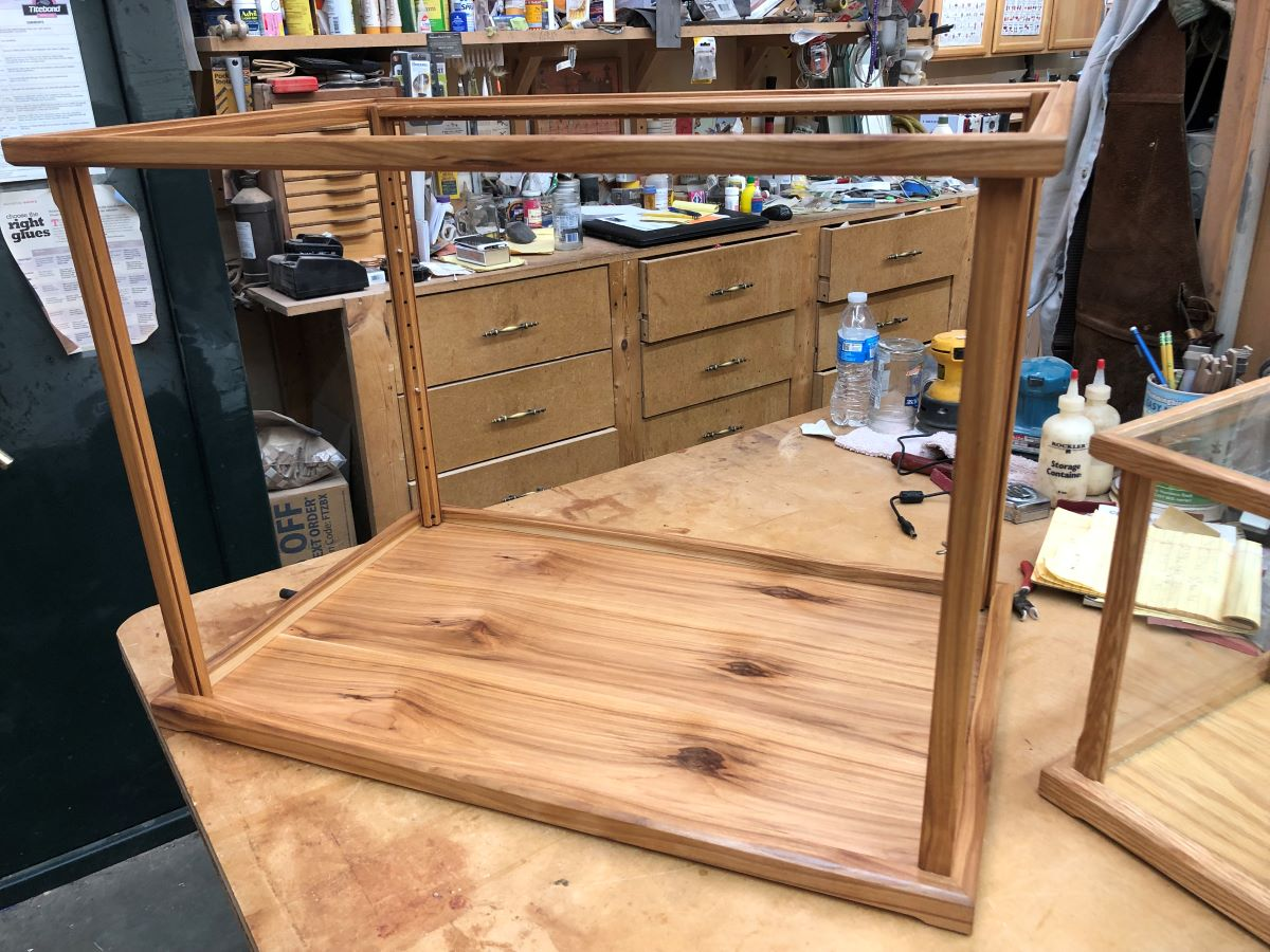 Hickory Wood display case