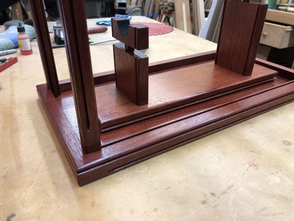 Large Pistol Lighted Display Case Wood and Glass – Brazilian Rosewood