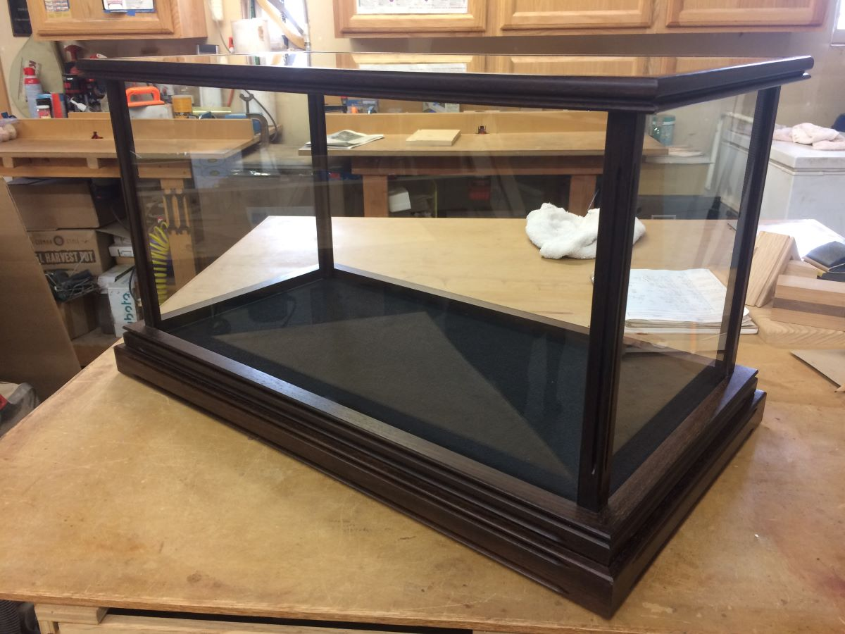 Wood and Glass Samurai Sword Display Case