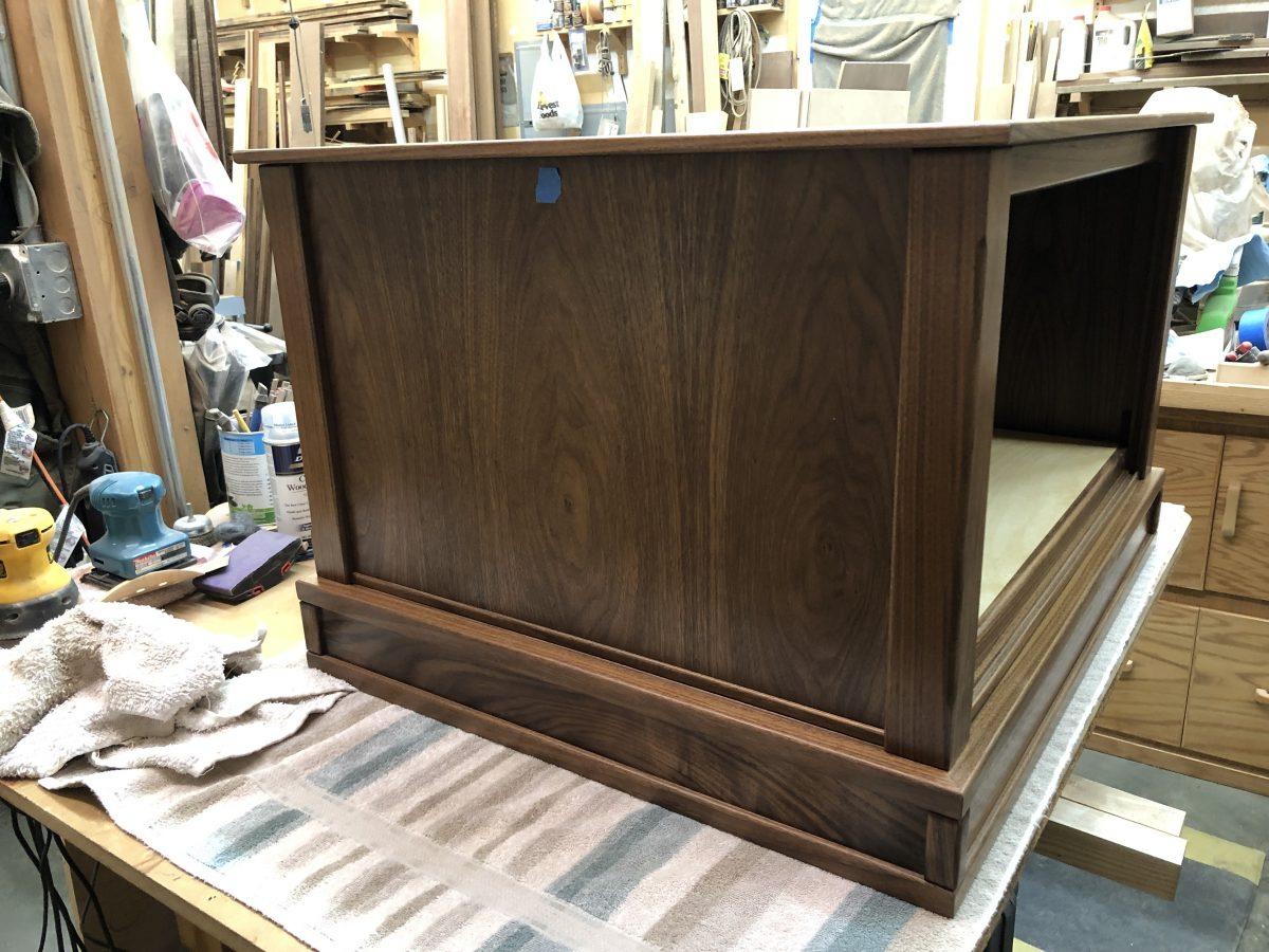 wooden diorama case