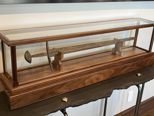 Ancient Sword Wooden Display Case