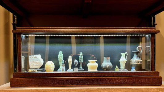 display case for ancient artifacts