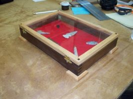 Glass Display box for arrowhead