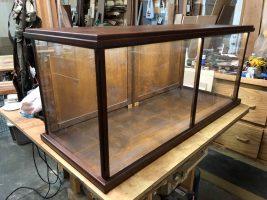 wooden case for museum exhibit